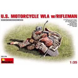 U.S. MOTORCYCLE WLA w/RIFLEMAN