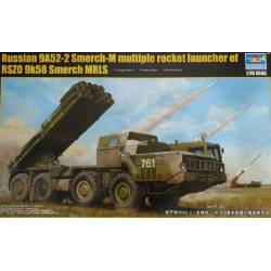 Russian 0A52-2 SMERCH-M Multiple Rocket Launcher of RSZO 8K58 SMERCH MLRS