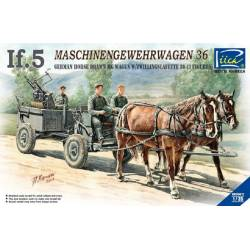 German If.5 Horse Drawn MG Wagon with Zwillingslafette 36