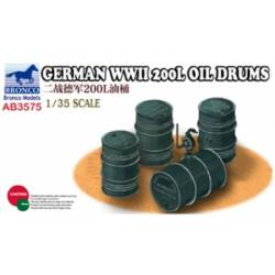 German WWII 200L Oil Drums