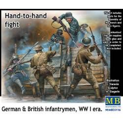 BRITISH & GERMAN INFANTRYMEN HAND TO HAND FIGHT WWI ERA