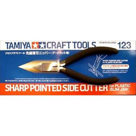 Sharp Pointed Side Cutter for Plastic (Slim Jaw)