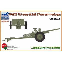 WWII US army M3A1 37mm anti-tank gun