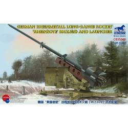 German Rheinmetall Long-Range Rocket Rheinbote Rh.Z.61/9 and launcher
