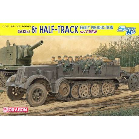 Sd.Kfz.7 8t Half-Track Early Production w/Crew