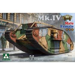 WWI Heavy Battle Tank Mk.IV Male/Female 2 In 1