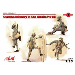 German Infantry in Gas Masks (1918)