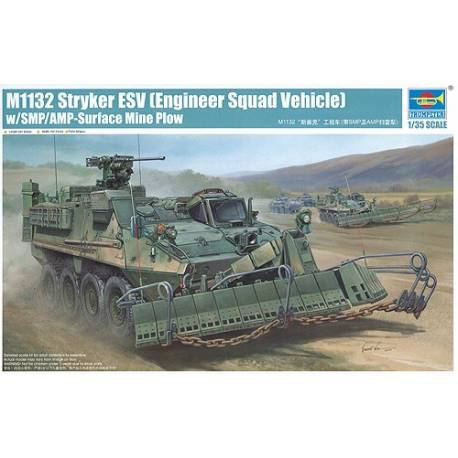 M1132 Stryker Engineer Squad w/SMP-Surface Mine Plow/AMP
