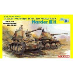 Sd.Kfz.138 Panzerjäger 38 für 7.5cm Pak40/3 Ausf.H MARDER III H Smart Kit