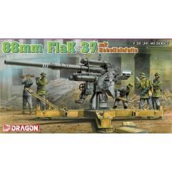 88mm Flak 37 mit Behelfslafette