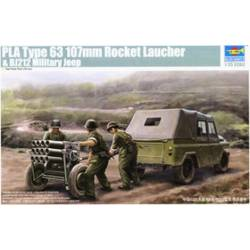 PLA type 63 107mm Rocket Launcher & B212 Military Jeep