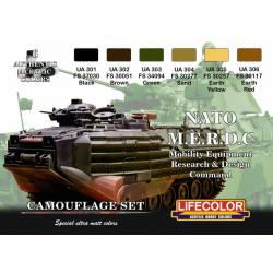Nato M.E.R.D.C. set 6x 22ml acrylic colours