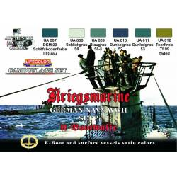 GERMAN WWII KRIEGSMARINE SET-2 6x 22ml acrylic colours