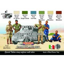 ITALIAN WWII REGIO ESERCITO UNIFORMS COLOURS 6x 22ml acrylic colours