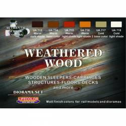 WEATHERED WOOD 6x 22ml acrylic colours