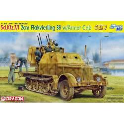 Sd.Kfz.7/1 2cm Flakvierling 38 w/Armor Cab (2 en 1)