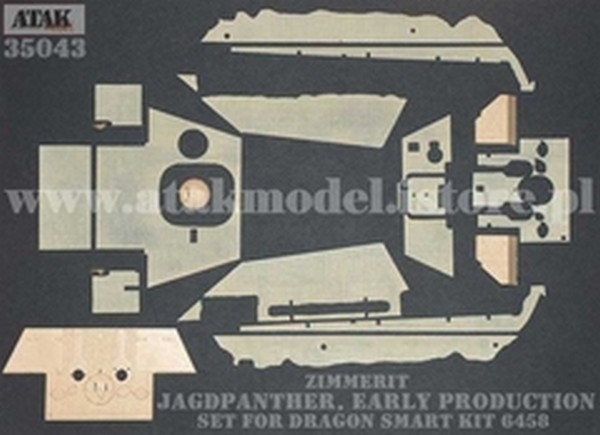 ATAK Model 35043 1//35 Zimmerit Jagdpanther Early Production