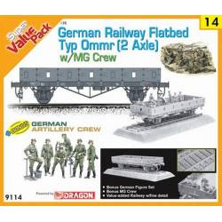German Railway Flatbed Typ Ommr (2 axle) w/MG crew