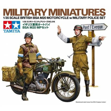 BSA M20 Motorcycle with British Military Police
