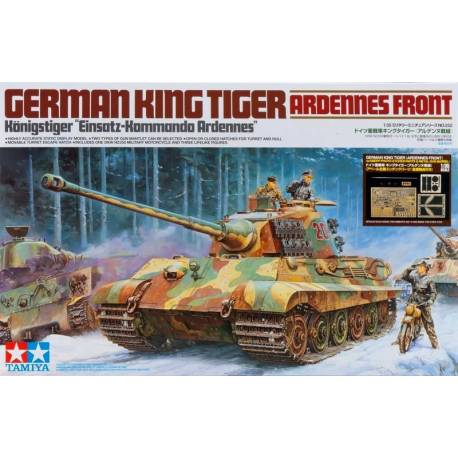 German King Tiger(Ardennes Front)w/Aberr Photo-Etched Parts and Metal Gun Barrel