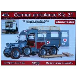 GERMAN AMBULANCE KFZ 31
