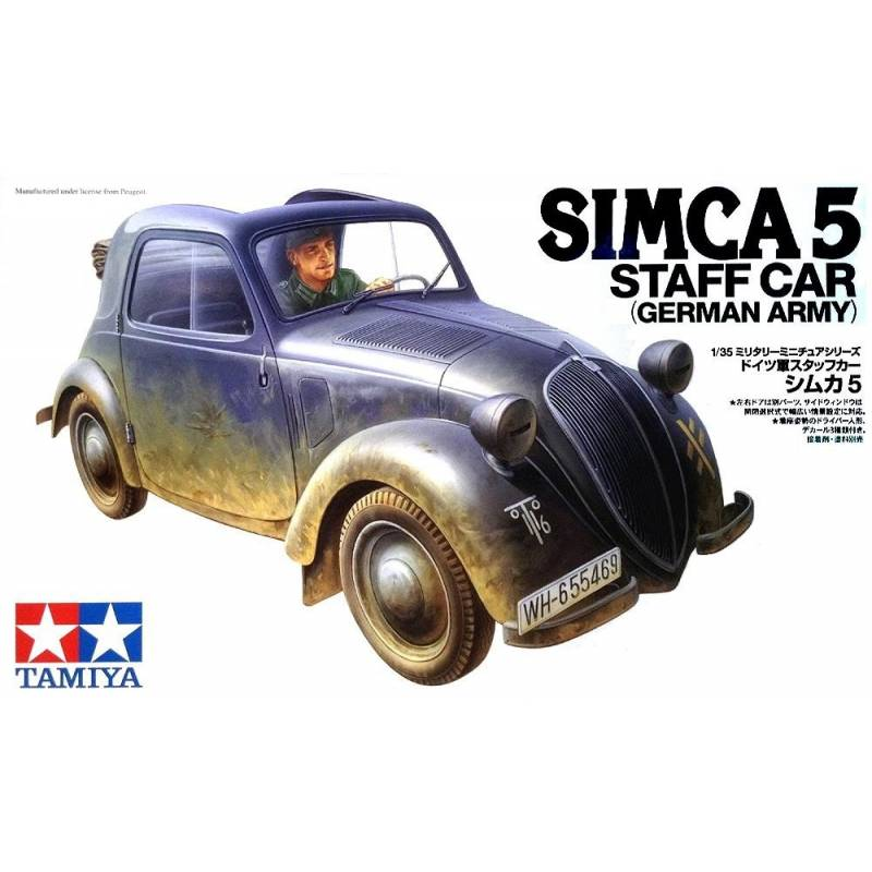 simca 5 staff car german army tamiya 35321 1 35 me maquette char promo. Black Bedroom Furniture Sets. Home Design Ideas