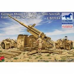 GERMAN 88 mm L71 FLAK 41 ANTI AIRCRAFT GUN W/Sd.Ah.202 TRAILER