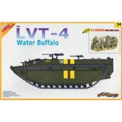 LVT-4 Water Buffalo + U.S. Marines Iwo Jima 1945 Figures Set