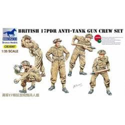 BRITISH 17 pdr anti-tank gun crew set