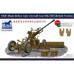 OQF 40mm Bofors Anti-aircraft Gun MK.I/III (British Version)