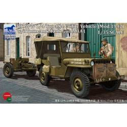 US GPW 1/4 ton 4x4 UTILITY VEHICLE MOD.1942 WITH 37MM M3A1 ANTI TANK GUN
